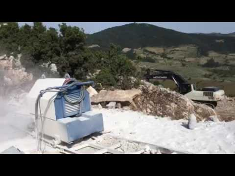 cutting marble mountain mermer ocağı dağ kesme