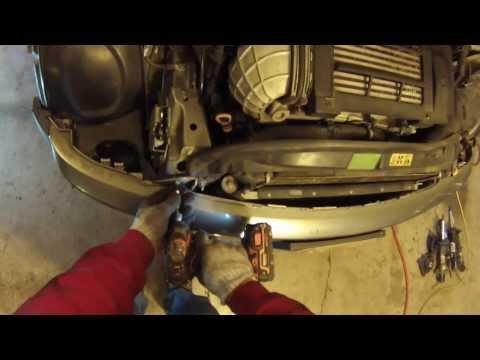 Front End Service mode 2002-06 MINI Cooper/radiator/bumper removal howto