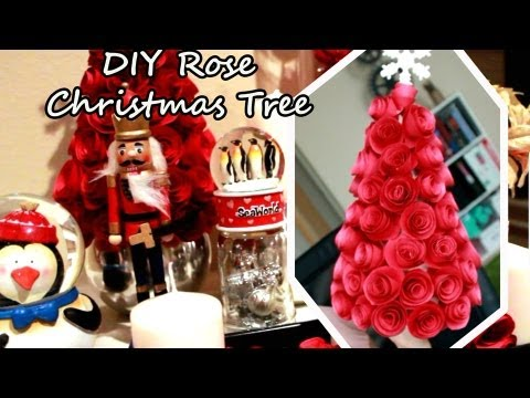 DIY Rose Christmas Tree