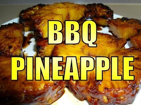 BBQ PINEAPPLE RECIPE WITH A SWEET COCA COLA & BROWN SUGAR GLAZE ON A WEBER BBQ - BBQFOOD4U