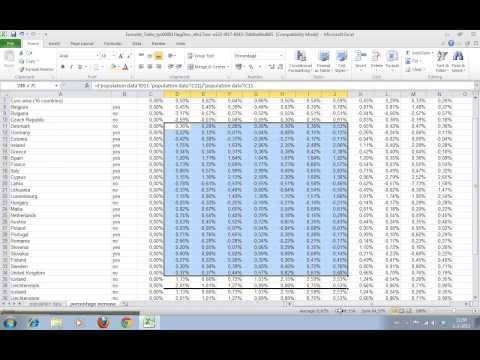 How to calculate percentage increases in large datasets Part II