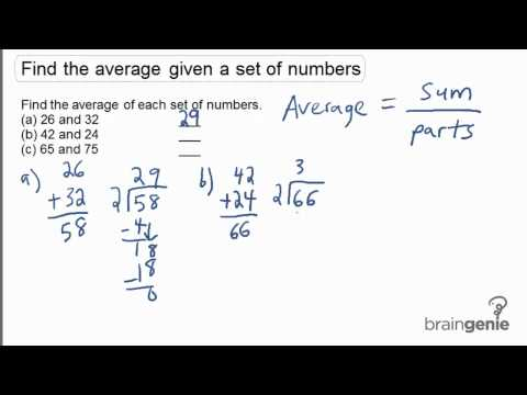 1.1.1 - Find the average given a set of numbers