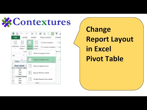 Change Excel Pivot Table Report Layout