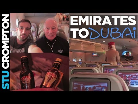 Emirates flight from Manchester to Dubai