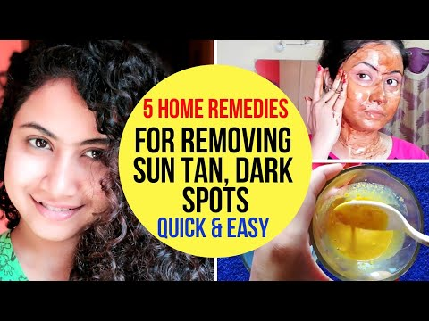 5 Home Remedies For Removing Sun Tan, Dark spots From Face & Body!!!!