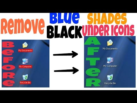Remove Desktop Icon Background Color in Windows XP | Simple Easy Way | Step by Step - Fast