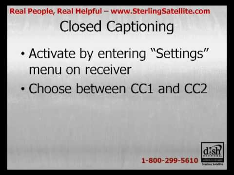 How Do I Control Closed Captioning on my DISH Network Receiver?