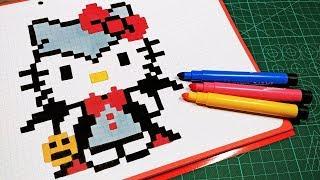 Pixel Art Hello Kitty Le Monde Du Pixel Art