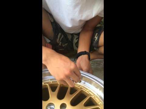 How to install a tire valve stem