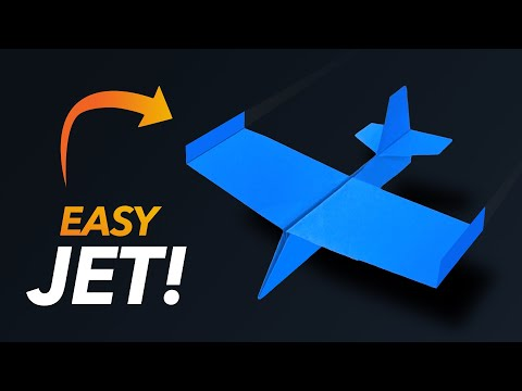 How to make a Paper Airplane - Easy Paper Spitfire Airplane!