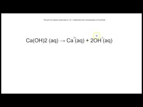 How To Find Concentration Of A Base (OH-) When Given pH