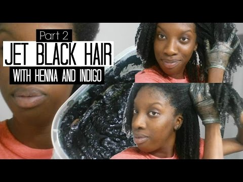Jet Black Hair with Henna and Indigo | Part 2
