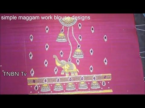simple maggam work blouse designs | peacock maggam work blouse designs | hand embroidery designs