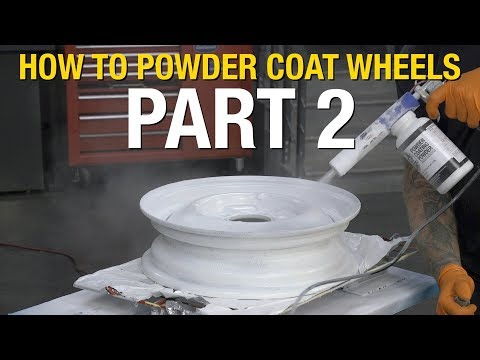 How To Powder Coat Wheels.  Applying White & Clear Powder to make the wheels look great! Eastwood