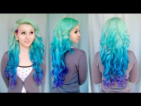 DIY MERMAID OMBRE HAIR on Sarah Sorceress - Tutorial by Cira Las Vegas