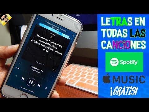 TENER LA LETRA DE TODAS LAS CANCIONES EN SPOTIFY Y    MUSIC FACIL GRATIS 2017