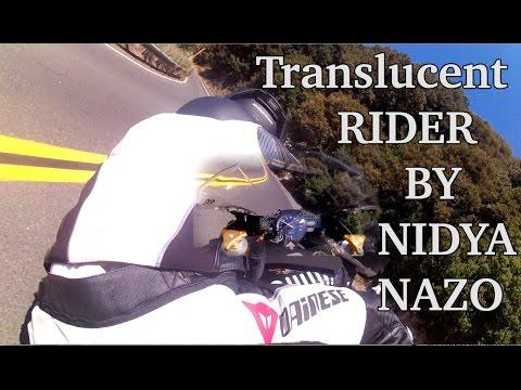 **SEE THROUGH RIDER** Road race BP, quick mtn. run- NIDYANAZO R1 Unique angle!
