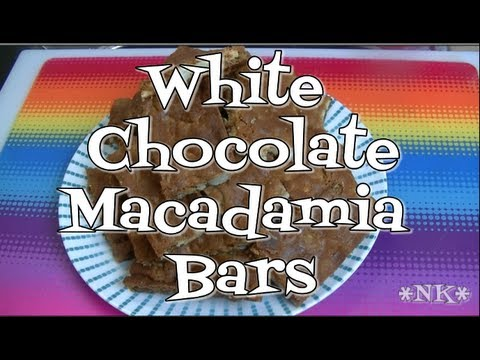 White Chocolate Macadamia Bars!  The Holidays are Coming!  Noreen's Kitchen