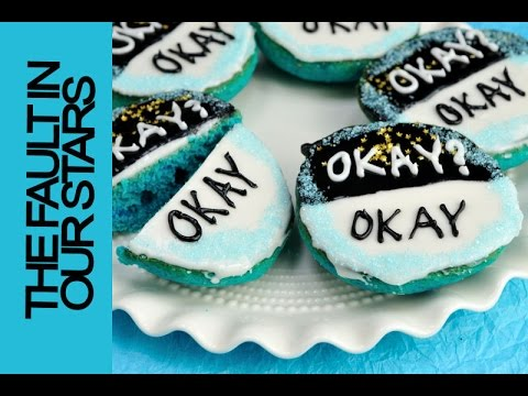 THE FAULT IN OUR STARS BLACK AND WHITE COOKIES