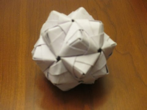 How to make an Origami Woven Stellated Icosahedron out of Sonobe modules