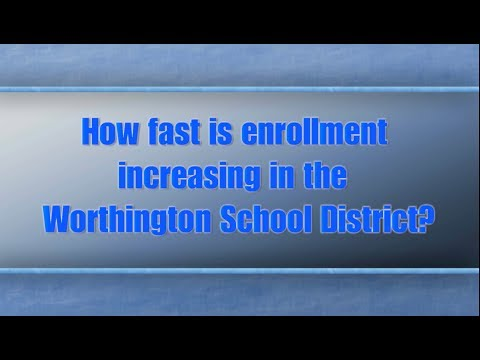 How fast is enrollment increasing in the Worthington School District?