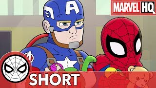 Spidey Cap Take On A Toy Thief Marvel Super Hero Adventures The Toys Are Back In Town Short