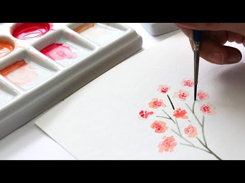 Paint 4 Loose Style Small Watercolor Florals