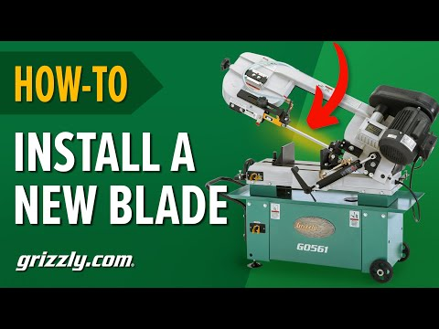 How-To Adjust the Wheel & Blade Guides When Installing a New Blade on a Metal-Cutting Bandsaw