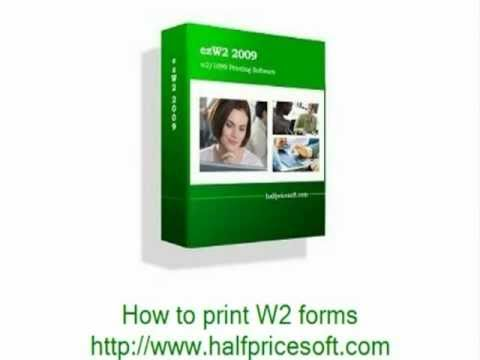 5 easy steps to print W2 forms