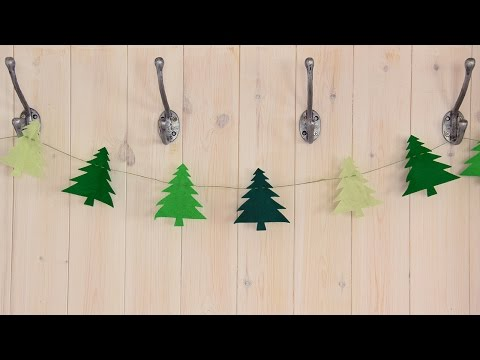 Quick Make - Christmas Tree Bunting
