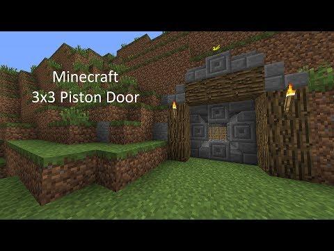 Minecraft: Simple 3x3 Piston Door