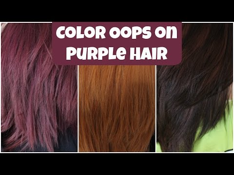 How I went from Purple to Brown Hair | ColorOops | Alyssa Nicole |