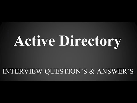 Active Directory Interview questions | Windows Server 2012 R2