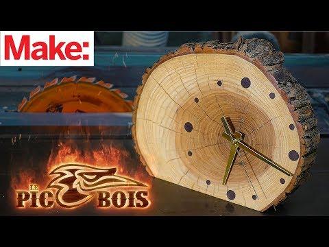 Le PicBois: Wooden Clock