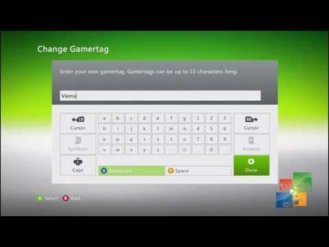 How to change Xbox 360 Gamertag for Free First Time