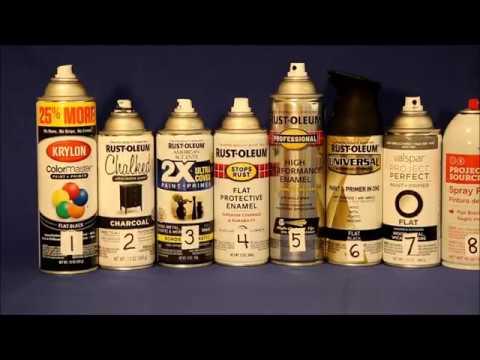 Flat Black Spray Paint Comparisons
