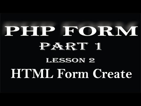 php tutorial  PHP FORM in hindi Part 1 Form Create