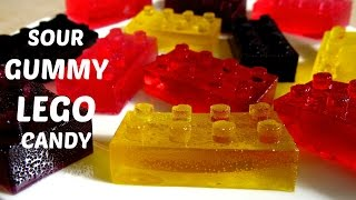 HOW TO MAKE SOUR LEGO GUMMY CANDY