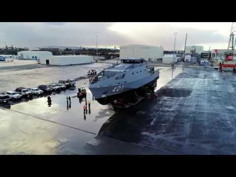 Austal Launches First Guardian Class Pacific Patrol Boat In Australia