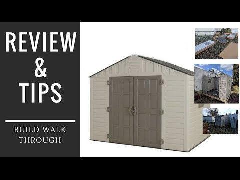 🏠Home Depot 8x10 Shed Review and Build Tips Keter vinyl plastic Storage Video:  by WSM 🦏