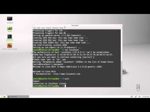 how to install a simple ssh server in Linux Mint 13