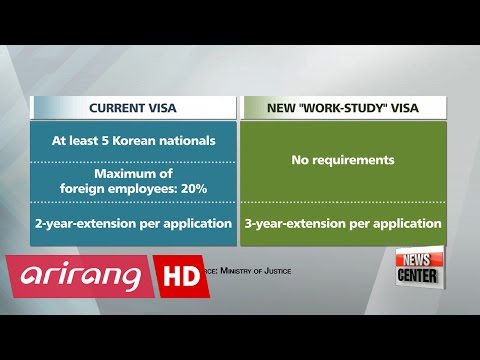 Korea to lower barrier on issuing work-study visas