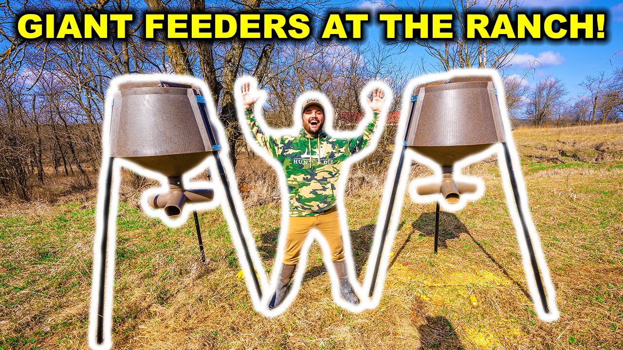 Putting GIANT Deer Feeders INSIDE the ABANDONED High-Fence RANCH!!! (Trail Cam Footage)