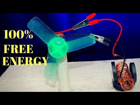 100% Free Energy Device, Free energy generator And Cooling Fan - Using Copper wire and Magnet - New