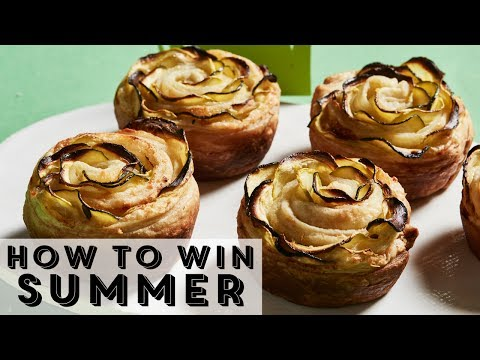 How to Make Zucchini Tarts That Look Like Flowers | Food Network