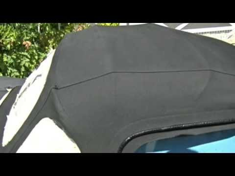 How to Clean and Restore a Black Canvas Convertible Fabric Hood or Roof