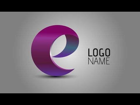 Adobe Illustrator Tutorials | How To Create 3D Logo Design | Letter e
