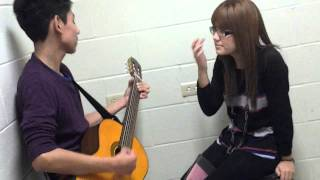 My boyfriend and me singing I wont give up ♥