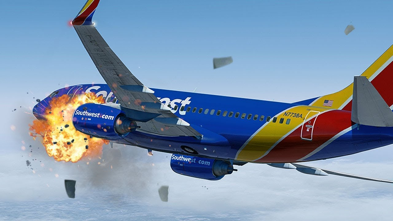 Terrifying Moments as Engine Explodes at 33,000ft | Uncontained Failure | Southwest Airlines 1380