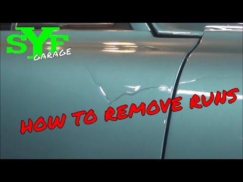 How to remove runs in a paint job